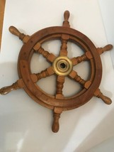 """Authentic Boat Ships Captains Nautical Ship Wheel 18"""" Wooden Steering Wheel - $44.10"""