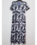 WearADress Womens Long Dress Size S Multicolor Stretch Short Sleeve Sheath - $17.64