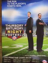 "Thursday & Saturday Night FOOTBALL NFL Network TV Show Poster 17"" x 11"" - $9.89"
