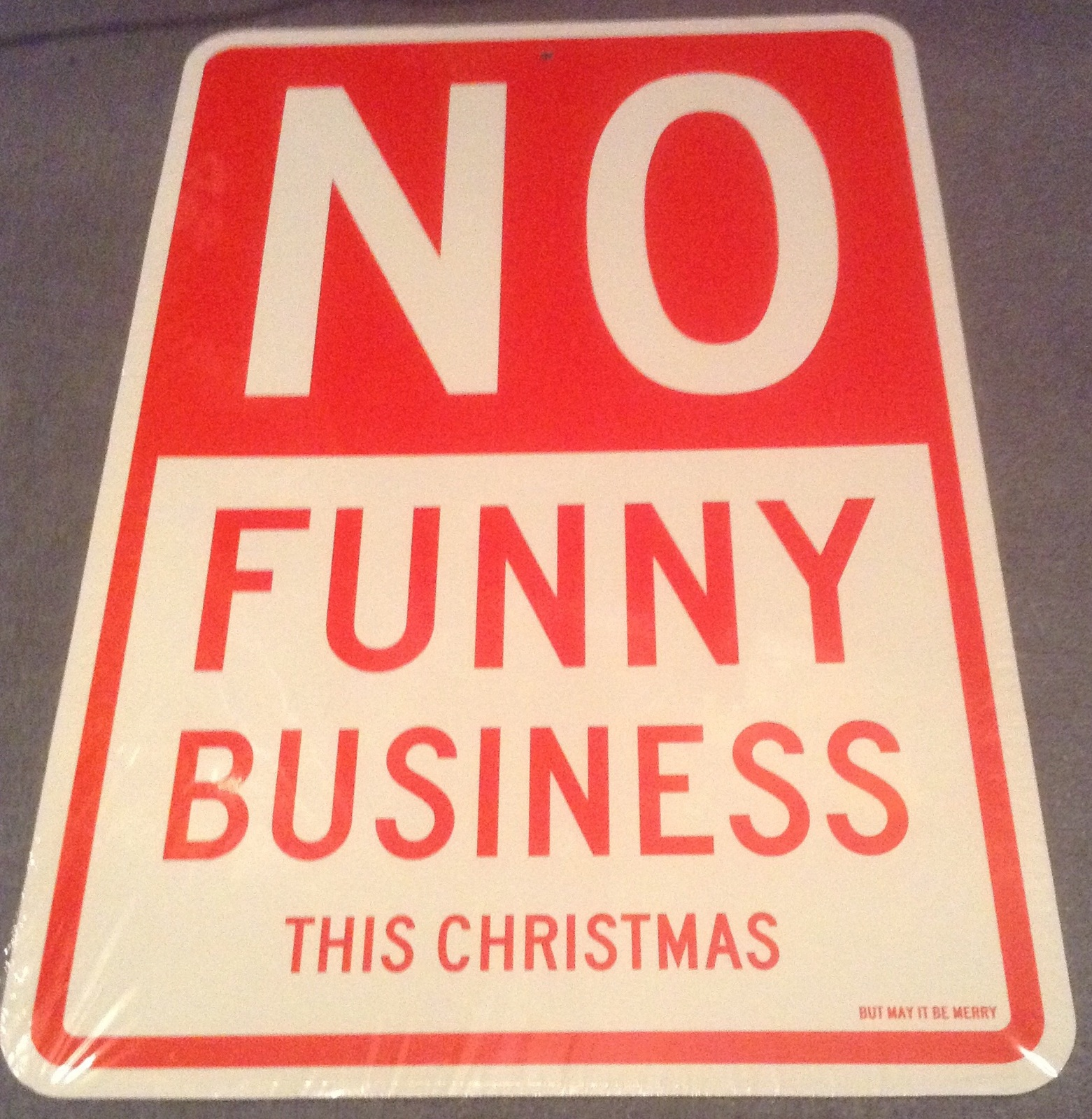 Christmas Fun & Game until Roast Chestnuts funny business Indoor Cardboard Sign