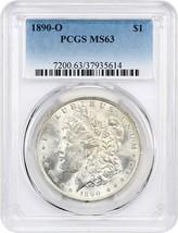 1890-O $1 PCGS MS63 - Morgan Silver Dollar - $121.25