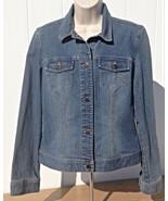 Womens Ann Taylor Loft Denim Stretch Jean Jacket Size 6 Medium Wash - $19.95