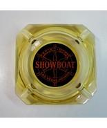 Vintage Showboat Hotel and Casino Las Vegas Nevada NV Square Gold Glass ... - $12.50