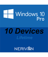 Microsoft Windows 10 Pro / Professional | 10 Devices | Genuine Product Key - $79.69