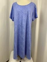 Fresh Produce Periwinkle Blue Cotton Tee Dress Women's 1X  - $23.74