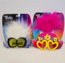 Set of two Trolls world tour Tiny Diamonds & Poppy's Rockin' Glasses Shades - $24.74