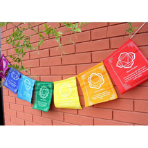 Chakra Tibetan Prayer Flags from the Land of Buddha, Nepal - $4.90
