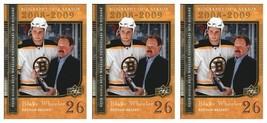 (3) 2008-09 Upper Deck Biography of a Season #BS23 Blake Wheeler Lot Bruins - $3.99