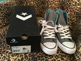 Converse CTAS HI Cool grey shoreline unisex sneakers shoes W/9  M/7 New ... - $37.04