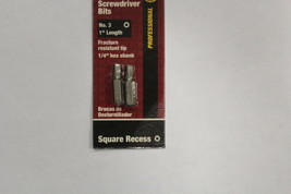 "NEW 305261 1"" #3 SCREWDRIVER BIT SQUARE RECESS   NEW - $2.95"