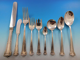 Dauphine by Wallace Sterling Silver Flatware Set 12 Service 125 pc Dinner A mono - $7,690.73