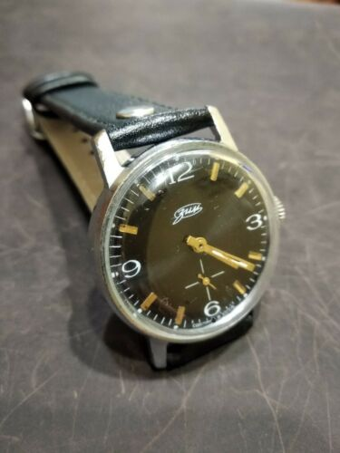 Watch Classic Black Dial Vintage ZIM Pobeda Square Men Retro Style Russian GIFT image 3