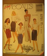 UNCUT Sewing Pattern 1991 McCALL'S B C 8,10,12,14 SKIRT 5751 [Z180] - $4.51