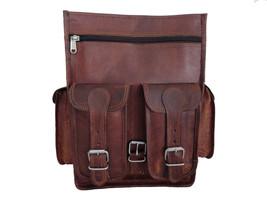 New Handmade Genuine Pure Rustic Soft  Leather Laptop  Unisex Travel Bac... - $64.17