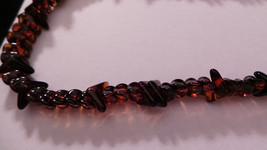 Vintage Brown Hand Strung Amber Necklace c 1940-1950 Baltic VG+ - $39.99