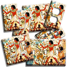 Ancient Egyptian People Animals Hieroglyph Wall Art Light Switch Outlet Plate Hd - $9.99+