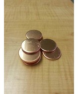 """JumpingBolt 10 Gauge 1"""" Copper Discs Lot of 10 Material May Have Surface... - $68.36"""