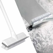 "BOOMJOY Floor Scrub Brush with Long Handle 50"", Adjustable Stainless Metal Handl"