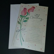 (2) 25th Anniversary Greeting Cards Lot Congratulations Silver Celebration - $9.85