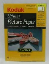 THREE 3 packs Kodak Ultima Picture Paper high gloss 4x6 5 per 15 total new - $15.68