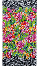 Mainstays Animal Print Floral Paradise Beach Pool Towel 100% Cotton XL 3... - $25.20