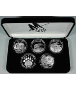 Mint Condition Alaska Mint 5 - BEAR SET Silver Medallion Proof  5 oz - $376.19