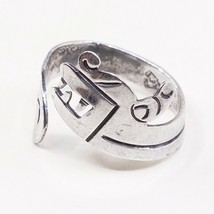 Size Adjustable, Vintage Sterling 925 Silver Angry Dog W/ Teeth Wrap Aro... - $25.12