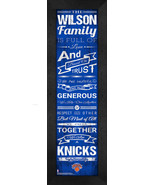 """Personalized New York Knicks """"Family Cheer"""" 24 x 8 Framed Print - $39.95"""