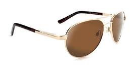 ONE -Siren - Compact Polarized Aviator Sunglasses  Gold / Green - $44.23