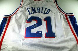 JOEL EMBIID / 2021 NBA ALL-STAR / AUTOGRAPHED 76ERS WHITE CUSTOM JERSEY / COA image 1