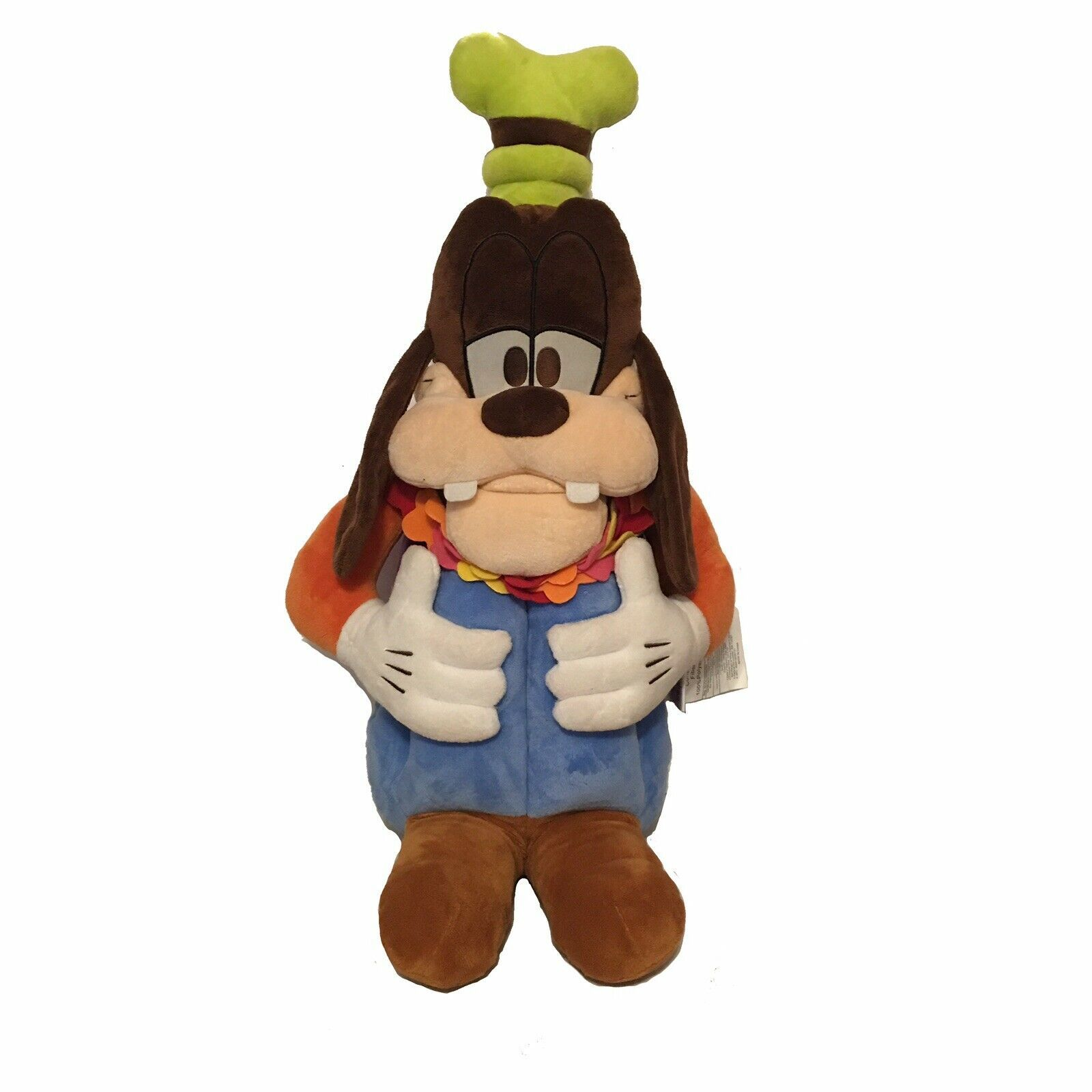 "Primary image for Disney Store Retired 24"" Tiki Kindon Goofy Hawaii Pillow Friend Lei Big Plush"