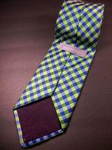 GEOFFREY BEENE  Green/blue  Mini PLAID   Mens 100  SILK  Necktie 8-1027 image 3