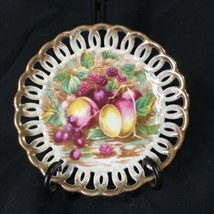 Royal Sealy China Japan Reticulated Pierced Rim Saucer Dish Vintage Grap... - $16.82