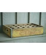 Wooden Yellow Coca Cola Coke Soda Pop Bottle Crate Carrier Case 24 Slot ... - $69.29