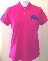 Ralph Lauren Womens Ladies Cotton Dark Pink Polo Shirt Size Medium - $74.60