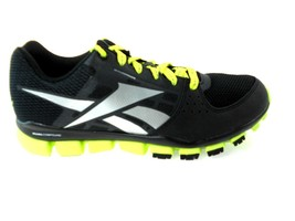 REEBOK TRANSITION 4.0 BLACK/YELLOW/SILVER RUNNING SHOES YOUTH Sz. 7Y  #V... - $49.99