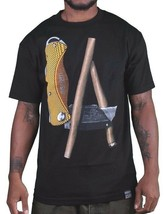 Dissizit! LA Hands Blunt Box Cutter Utility Knife Los Angeles Black T-Shirt NWT