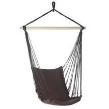 Espresso Brown Cotton Padded Swing Chair 200lb Cap - $30.08