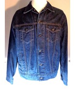 Mens Gap Blue Jeans Denim Trucker Jacket Size XL - $57.81