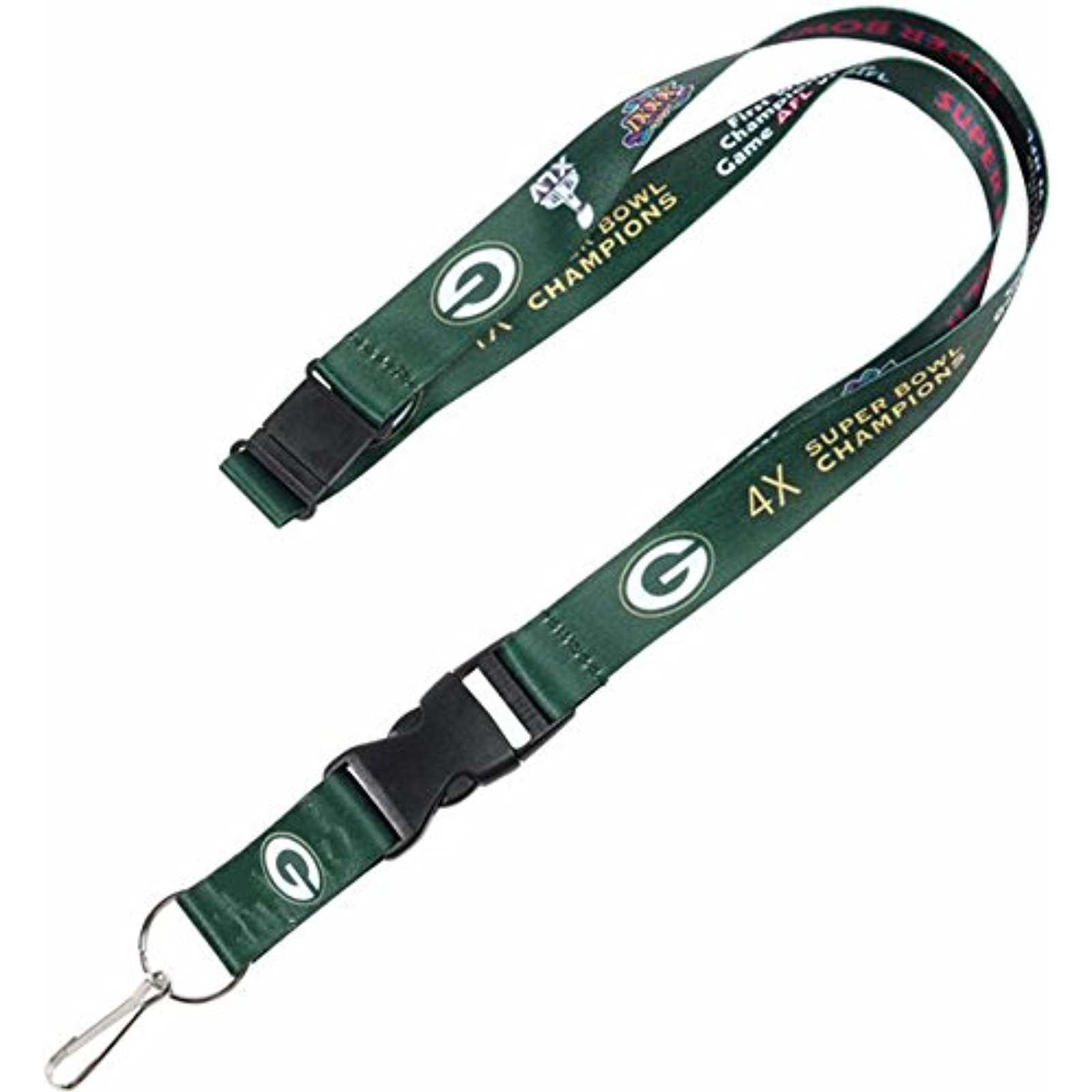 "NFL Green Bay Packers Dynasty Detachable Breakaway Lanyard ""24"