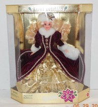 1996 Happy Holidays Barbie Doll Collectors Edition RARE HTF Mattel - $32.73
