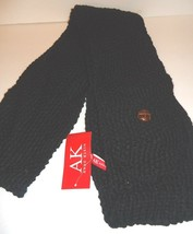 Ladies Women's Long Anne Klein Black Pocket  Scarf, O/S - $37.12