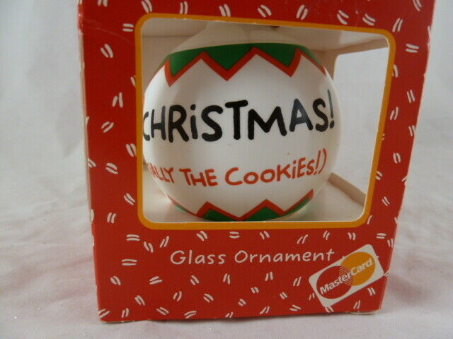 Primary image for I Love Christmas Especially Cookies  Hallmark Shoebox Tree Ornament