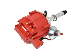 CHEVY GMC 4.3L V-6 HEI020R HEI Distributor with Red Cover Super Cap image 2