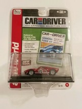AUTO WORLD 1965 FORD GT40 RED CAR & DRIVER #6 ACRYLIC CASE (1:64) SAME-D... - $12.89