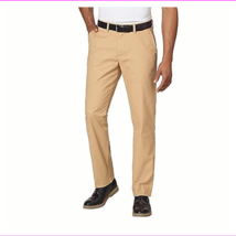 Tommy Hilfiger Chino Pants Mens Tailored Fit Flat Front Flag Logo - $18.53+