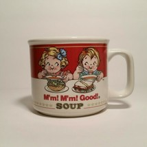 Campbell Soup 1997 Mug Bowl by West Wood Featuring Kids Enjoying Soup Vi... - $7.84