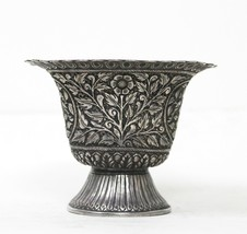 Pot Bowl Silver Decorative Vintage Collectible Handcrafted Home Decor US36AH - $1,472.50