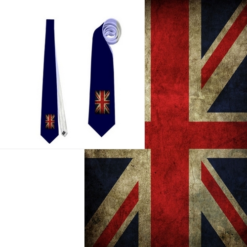 necktie uk flag vexillology patriotic national football fan