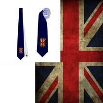 necktie uk flag vexillology patriotic national football fan - $22.00